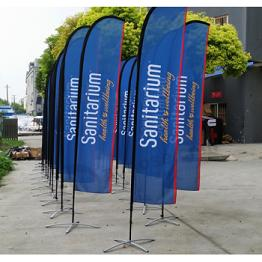 Customized Printed Business Swooper Flags