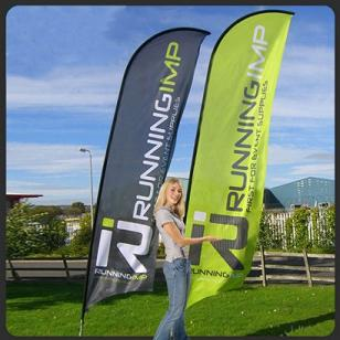 Custom blade flags our individualization flag or large banners