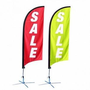 Custom made feather flags and banners