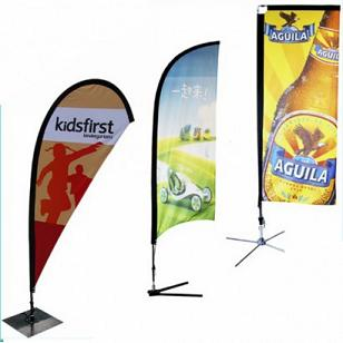 Customized personalization feather banners