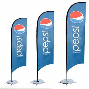 Double Side Printing beach Flags Custom with Base pepsi ads flags