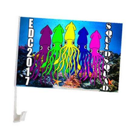 Hot Sale Customized Cheap Promotional Car Flags with Logo Printed