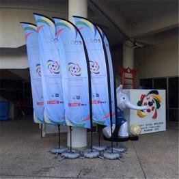 Wholesale customized flying beach flag for promotion with any size