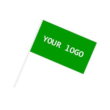 Custom Green Polyester Hand Wave Flags