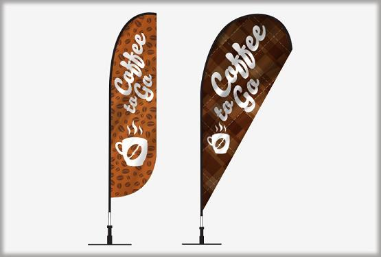 Coffee  teardrop flags or banners wholesale