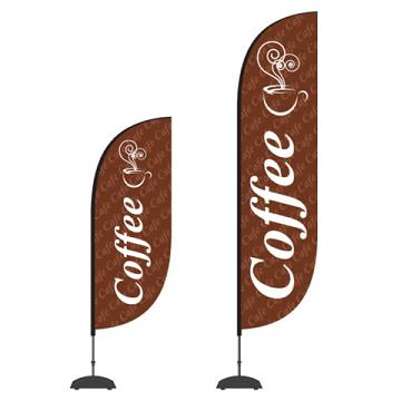 Custom and print coffee flags or banners