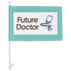 Custom future doctor car windows flags