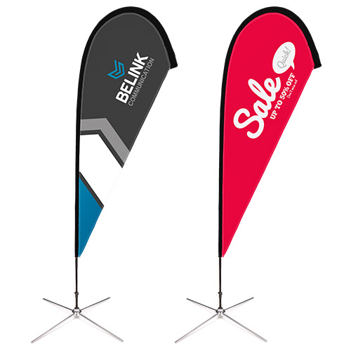 customized teardrop flags cheap low price
