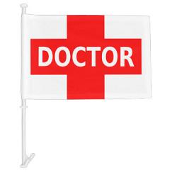 Hospital doctor logo car window flags
