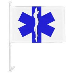 Star of life medicalb symbol car window flags